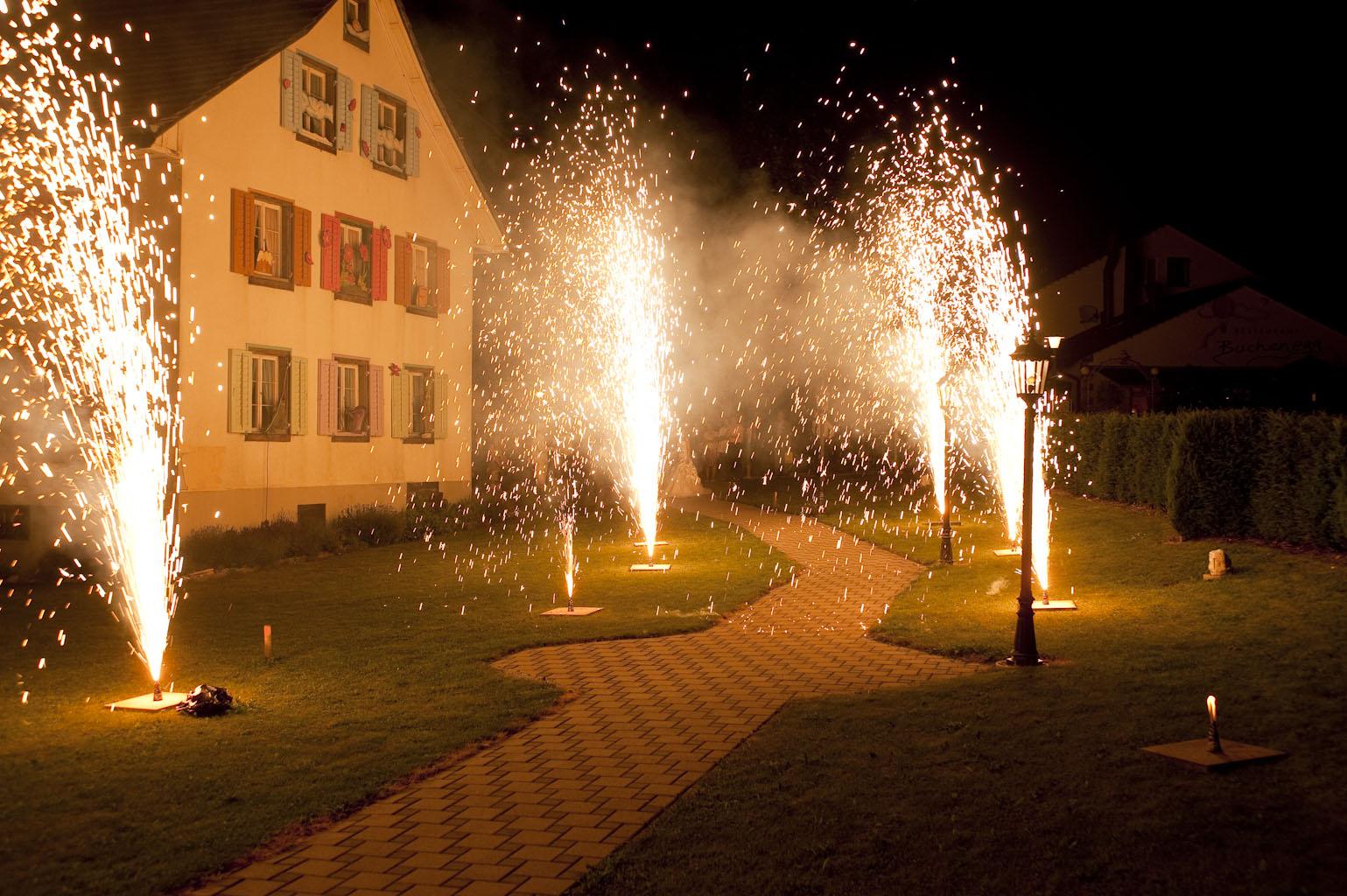 Hochzeit Feuerwerk